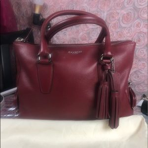 Coach Legacy black cherry satchel